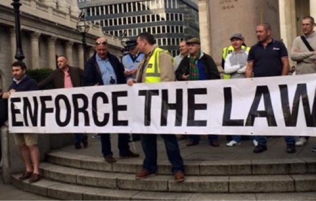 Bank Junction Bought To A Standstill By Taxi Drivers Protesting Against TFL's Woeful Inadequacies.