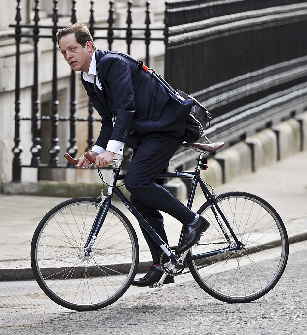 Tim Chatwin Tory Strategist arriving in Downing St for work this morning