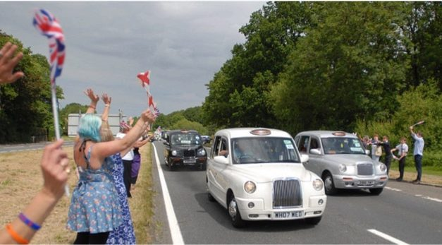 Convoy of cabs to take WWII veterans to Worthing.