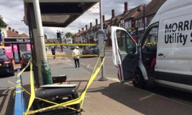 Fatal bus stop crash in Hornchurch