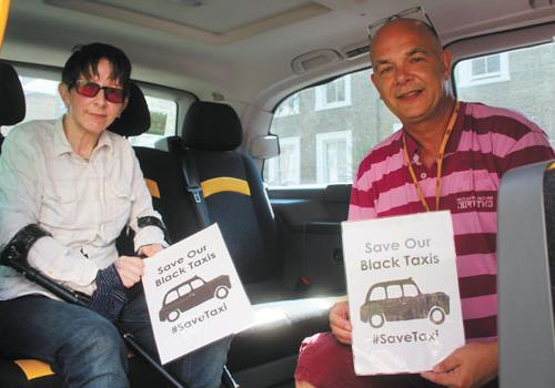 Black cab drivers raise thousands to buy wheelchair for disabled customer