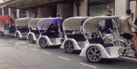 Police crackdown on London's illegal pedicabs