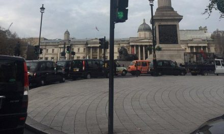 London taxi protest: Black cab drivers descend on Whitehall to call for inquiry into Transport for London