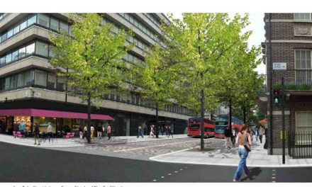 Baker Street Two Way, With Pedestrian Priority Zone, Buses and Cycles Only Between George and Blandford.