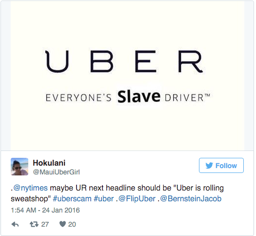 Uber CEO Blocking Drivers On Twitter For Protesting Fare