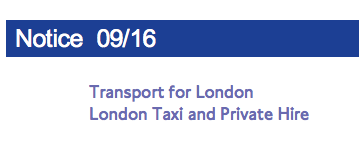 Changes to Taxi Fares and Accepting Payment by Card