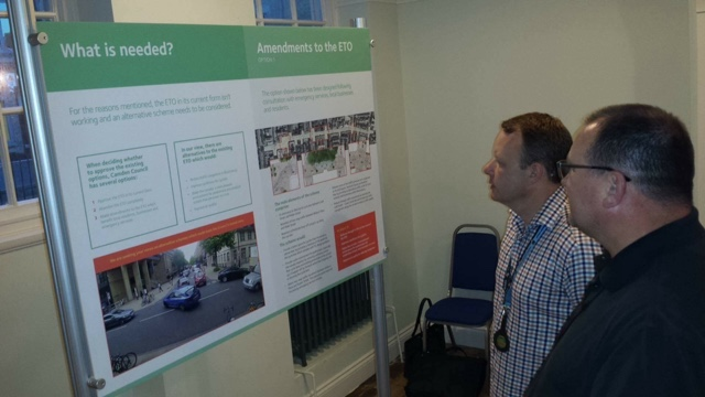 Marc Turner Attends Exhibition On Proposed Revisions To Disastrous Tavistock Place Scheme.