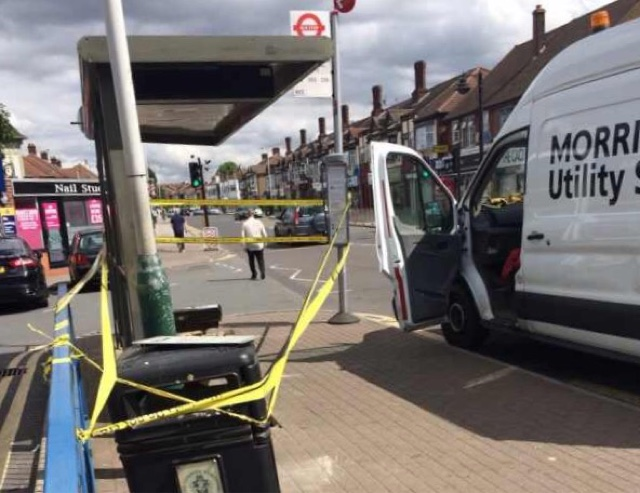 Fatal bus stop crash in Hornchurch
