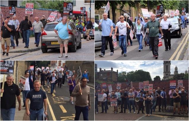 Evening Standard Tobacco Dock Awards Protest : TfL Ignore Uber Touting In Street.