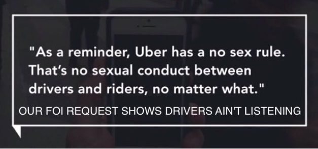 Uber Bans Passengers From Flirting In Attempt To Solve Predicted Sexual Assaults Issue.