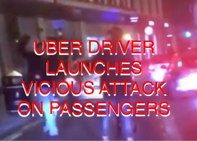 UBER DRIVER ATTACKS PASSENGER WITH WEAPON