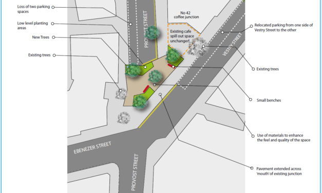 Provost Street, Nile Street and Ebenezer Street – Public realm improvement and traffic reduction schemes