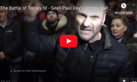 The Battle of Tooley St – Sean Paul Day's victory speech at Bank Junction.